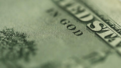 Dollar Close Up. Motto On Money - In God We Trust stock footage