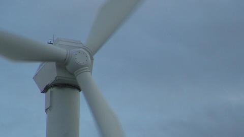 Wind power electric station wings, close-up ビデオ