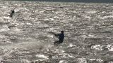 Kite Surfing Seven In The Baltic Sea stock footage