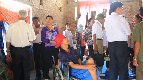 Group People Care For The Disabled, Asia stock footage