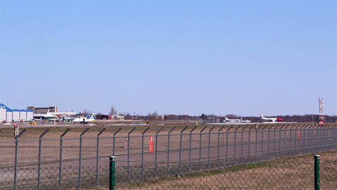 The View Of The Airports Runway stock footage