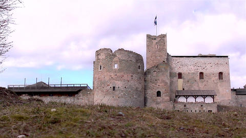 The old castle as a tourist attraction Footage