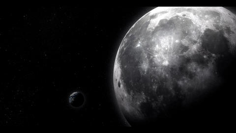 The Moon And Earth stock footage