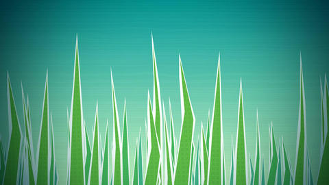 Grass Illustrated Loop HD stock footage