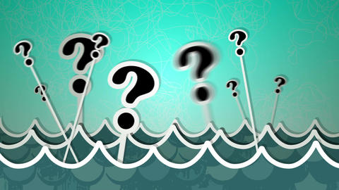 Sea Of Questions Loop HD Animation