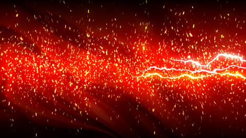 Slow Sparks And Lightnings On Red Silky Background stock footage