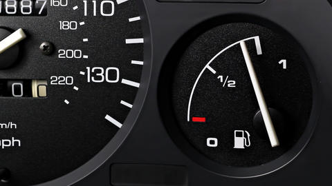 Fuel Gauge stock footage