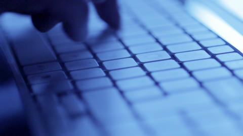 Blue Keyboard stock footage
