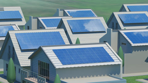 solar Panel Ja3 HD Animation
