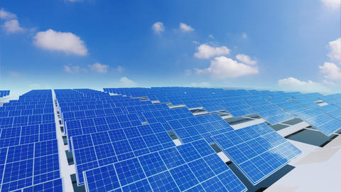 Solar Panel Ca4 HD Animation