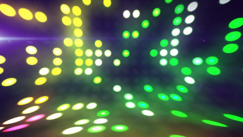 Disco Lights Scene Loop stock footage