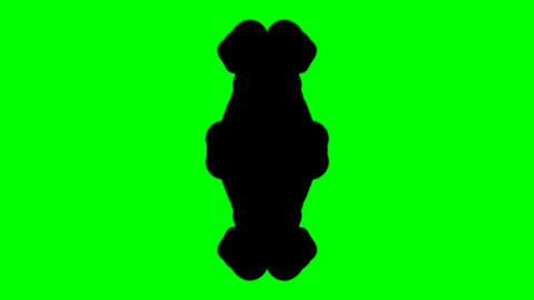Ink Blot Chroma Key stock footage
