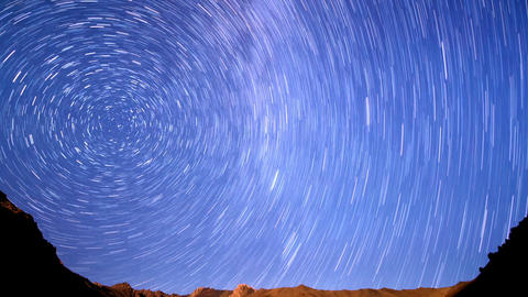 Milky Way In The Mountains. Line. Time Lapse. 1280 stock footage