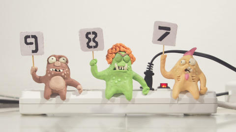 stopmotion animation monster jury voting Footage
