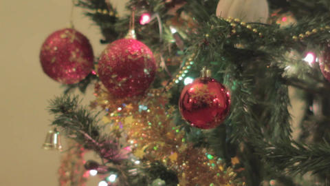 Christmas Ornament Tree stock footage