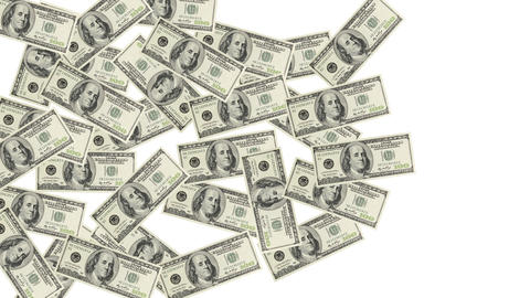 Pile Of Dollar Bills stock footage
