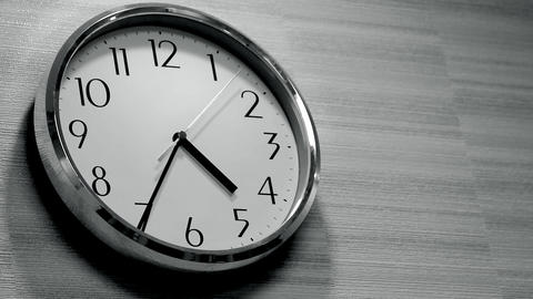 Wall Clock In The Office stock footage