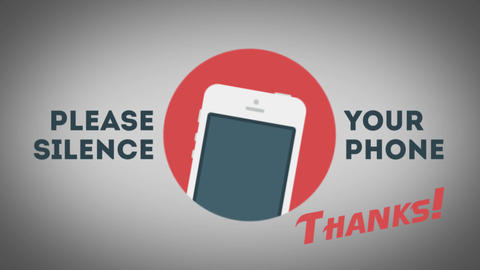 Please Silence Your Cell Phone Animation