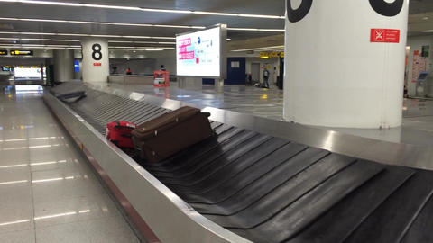 Airport Baggage Collection stock footage