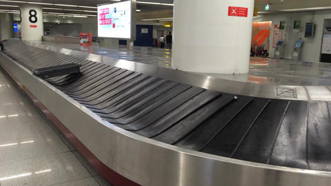 Baggage Conveyor Belt In The Airport , Not Collect stock footage