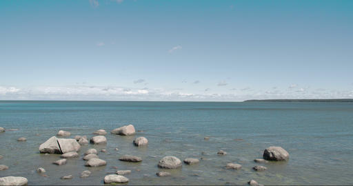 Small Rocks On The Sea In Estonia FS700 4K RAW Ody stock footage