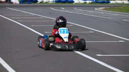 Go-kart Sequence With Sound stock footage