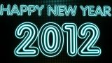 Happy New Year 2012 Neon HD stock footage