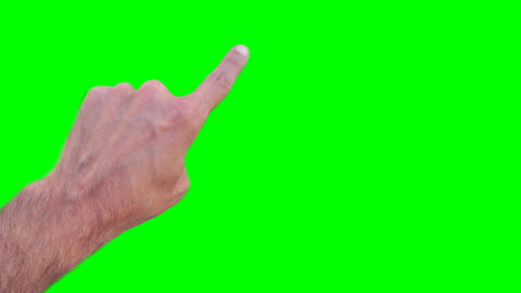 Hand Operate Smartphone Finger Press The Button Touch Screen Green Screen stock footage