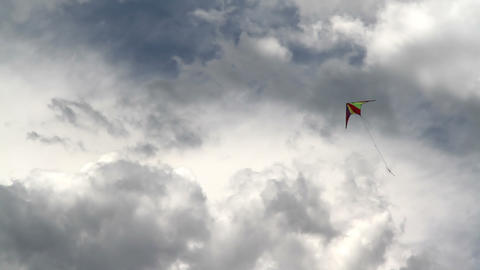 Kite And The Coming Storm 1 stock footage