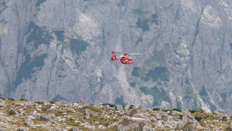 helicopter lift off refuge locatelli dolomit 11545 Footage