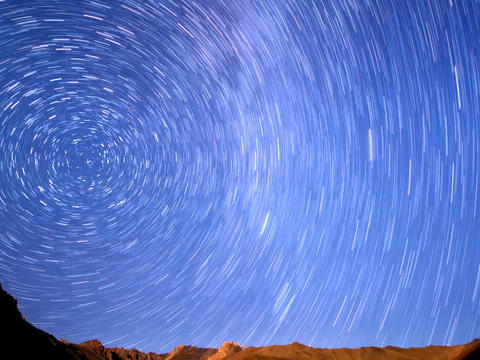 Milky Way Is Far Off. Line. Time Lapse. 640x480 stock footage