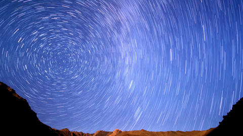 Milky Way Is Far Off. Line. Time Lapse stock footage