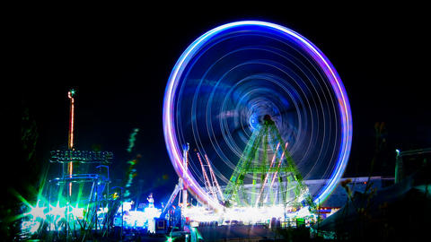 Amusement Park Time Lapse stock footage