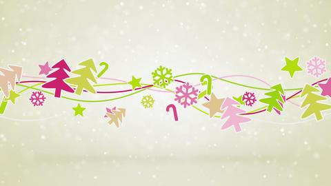 Christmas Symbols Loopable Holiday Background stock footage