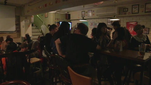 Popular British Pub In Taipei stock footage