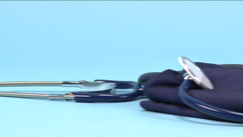 Blood Pressure Meter And Stethoscope stock footage
