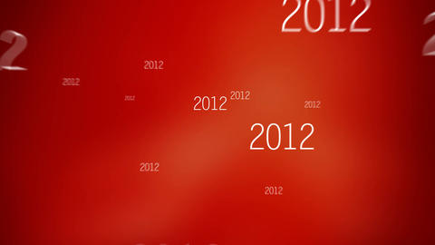 New Year 2015 Red stock footage