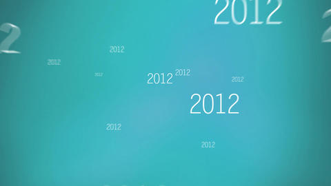 New Year 2015 Blue Animation