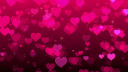 Pink Hearts Background Footage