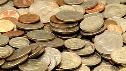 Coins 1 stock footage