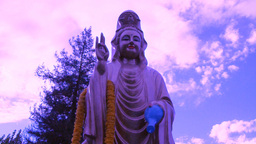Purple Buddha stock footage