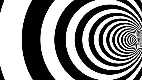 Optical illusion target tunnel retro spiral hypnosis circle circles time loop Animation