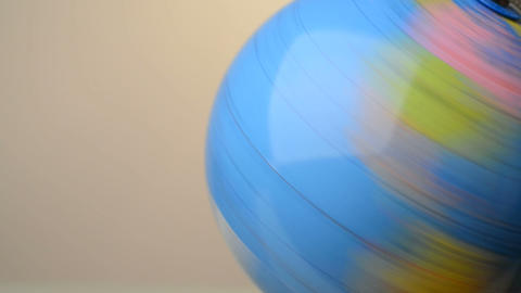 Rotating Globe stock footage