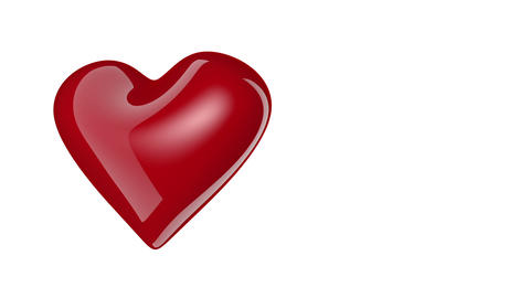 Heart rotating isolated on white background Footage