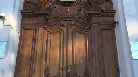 Orthodox church door Footage
