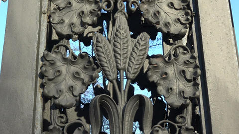 Decorative cast-iron fence Footage