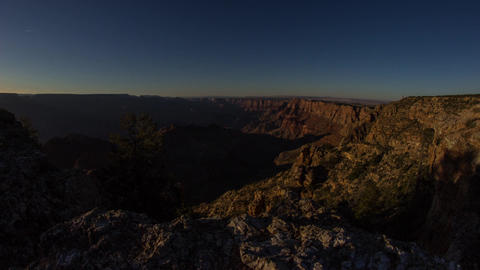 Dolly Shot Of Sunset Time At Grand Canyon stock footage