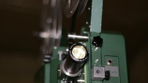 Film Projector Projecting 16mm Movie Rack Focus Footage