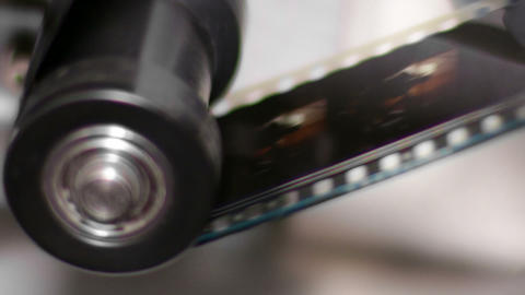35mm Film Projector Gear Projecting Movie stock footage