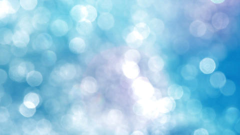Blurred Particles On A Blue Background stock footage